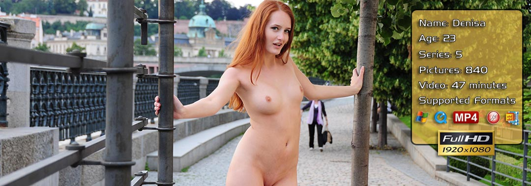 Redhead Denisa Naked In Prague