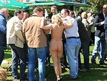 blonde nudes in public 3