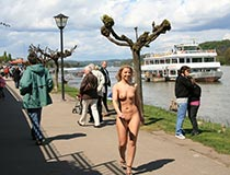 Blonde Nude Lady In Public 5