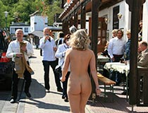 Blonde Nude Girl In Public 8