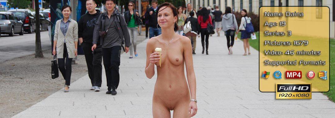 Daina Public Naked Girl