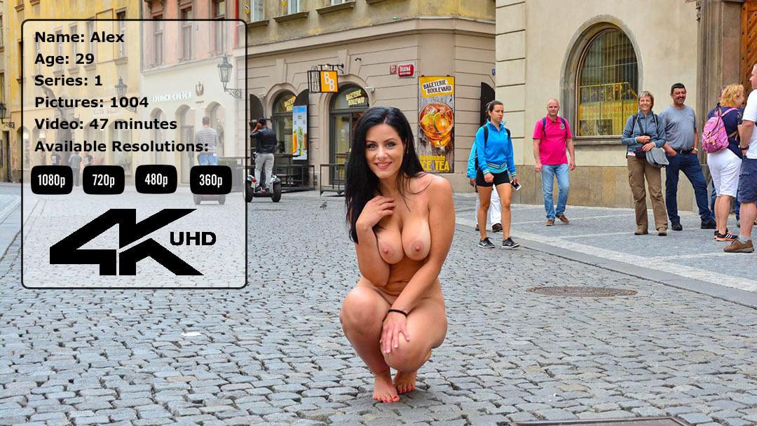 Busty Babe Alex Nude In Public